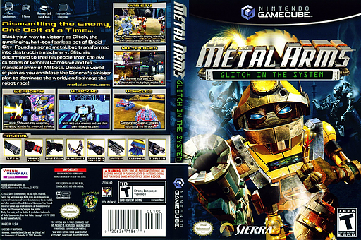 Metal Arms:Glitch in the System GameCube cover (GM5E7D)