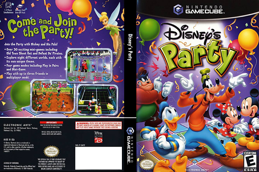 Disney's Party GameCube cover (GMTE69)