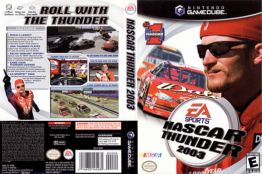 Nascar Thunder 2003 GameCube cover (GNCE69)