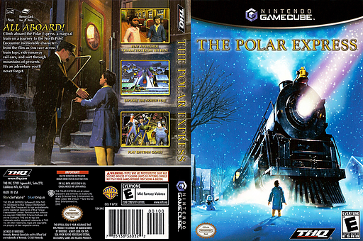 The Polar Express GameCube cover (GP3E78)