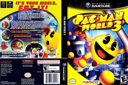 Pac-Man World 3 GameCube cover (GP8EAF)