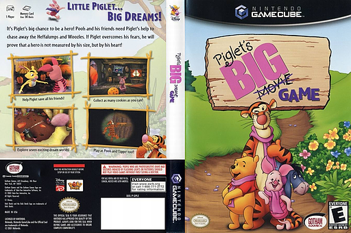 Piglet's Big Game GameCube cover (GPLE9G)