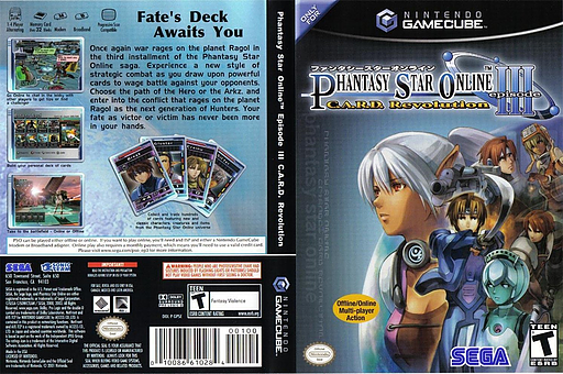 Phantasy Star Online Episode III: C.A.R.D. Revolution GameCube cover (GPSE8P)