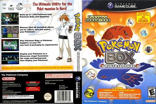 Pokémon Box: Ruby & Sapphire GameCube cover (GPXE01)