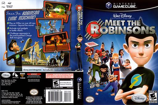 Meet the Robinsons GameCube cover (GQTE4Q)