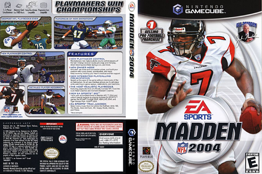 Madden NFL 2004 GameCube cover (GQXE69)