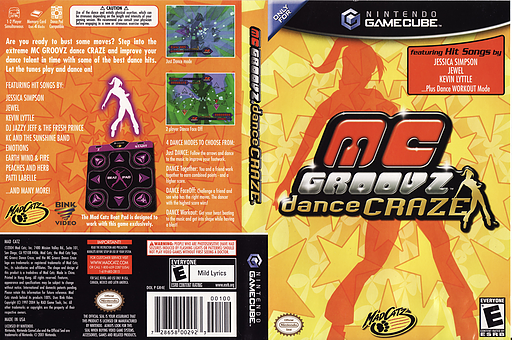 MC Groovz Dance Craze GameCube cover (GR4EMZ)
