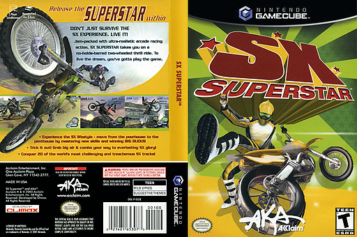 SX Superstar GameCube cover (GS3E51)