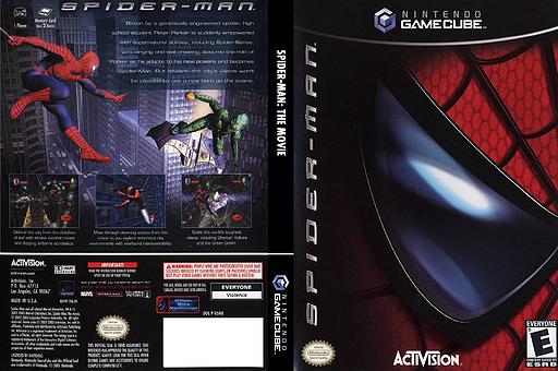 Spider-Man: The Movie GameCube cover (GSME52)