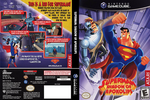 Superman: Shadow of Apokolips GameCube cover (GSUE70)