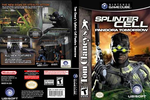 Tom Clancy's Splinter Cell: Pandora Tomorrow GameCube cover (GT7E41)