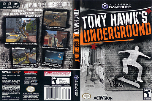 Tony Hawk's Underground GameCube cover (GTDE52)