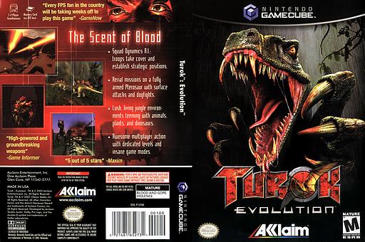 Turok Evolution GameCube cover (GTKE51)