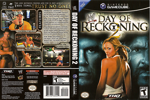 WWE Day of Reckoning 2 GameCube cover (GW2E78)