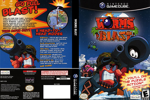 Worms Blast GameCube cover (GWBE41)