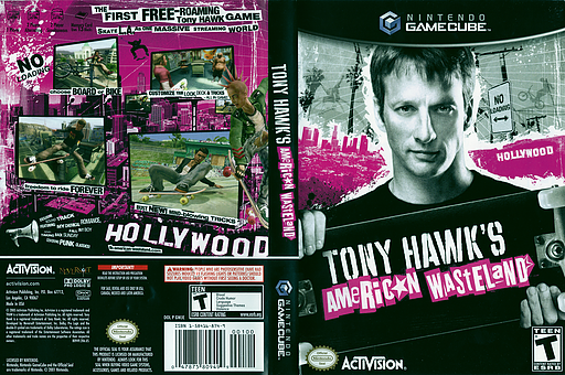 Tony Hawk's American Wasteland GameCube cover (GWJE52)
