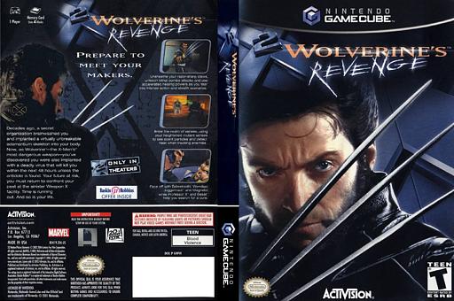 X2: Wolverine's Revenge GameCube cover (GWVE52)