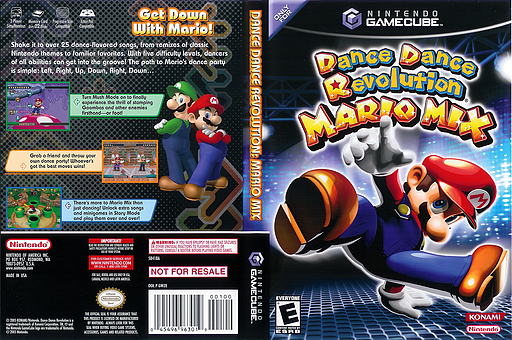Dance Dance Revolution: Mario Mix GameCube cover (GWZE01)
