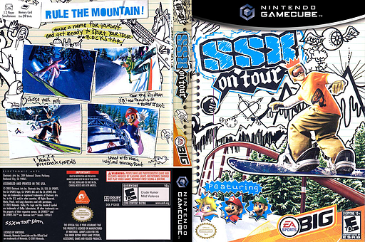 SSX on Tour GameCube cover (GXOE69)