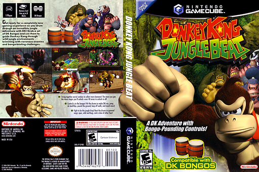 Donkey Kong Jungle Beat GameCube cover (GYBE01)