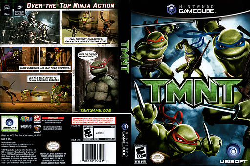 TMNT GameCube cover (GYRE41)