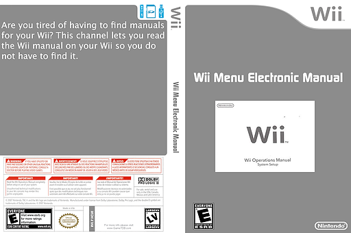 Wii Menu Electronic Manual Channel cover (HCUE)