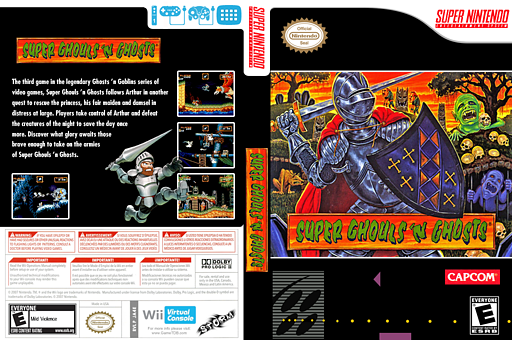 Super Ghouls 'n Ghosts VC-SNES cover (JA4E)