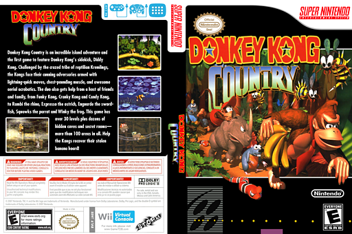 Donkey Kong Country VC-SNES cover (JAEE)