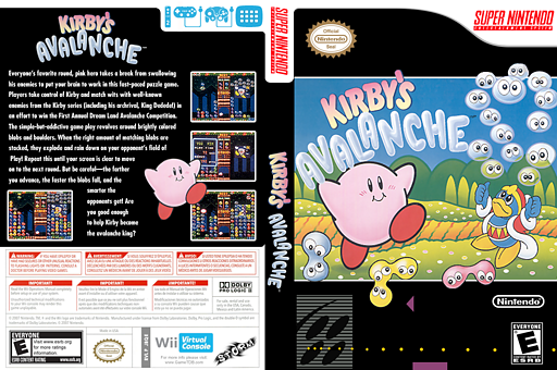 Kirby's Avalanche VC-SNES cover (JBQE)