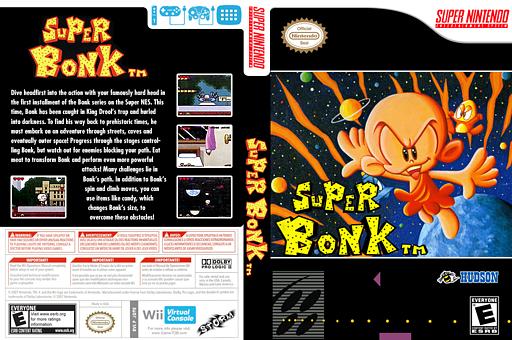 Super Bonk VC-SNES cover (JD9E)