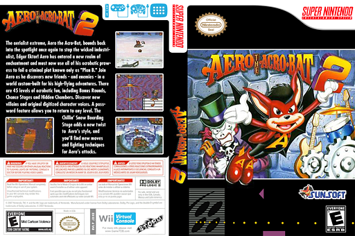 Aero the Acrobat 2 VC-SNES cover (JDXE)