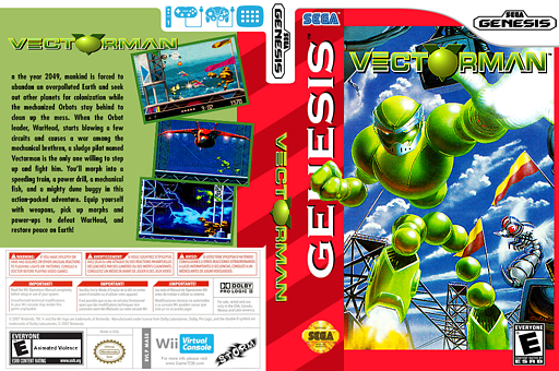 Vectorman VC-MD cover (MASE)