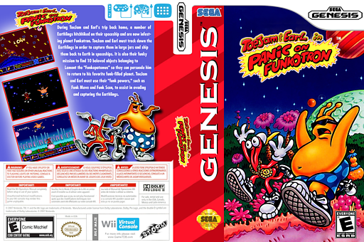ToeJam & Earl in Panic on Funkotron VC-MD cover (MAZE)