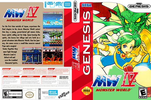 Monster World IV VC-MD cover (MB3E)