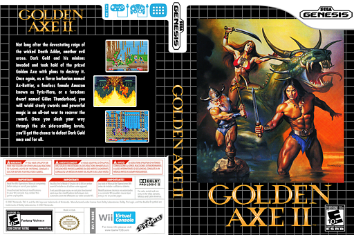 Golden Axe II VC-MD cover (MBDE)
