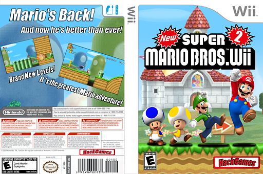 New Super Mario Bros. Wii 2 CUSTOM cover (NSMB02)