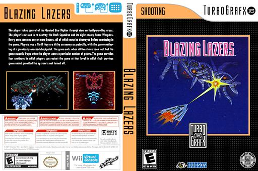 Blazing Lazers VC-PCE cover (PB8E)