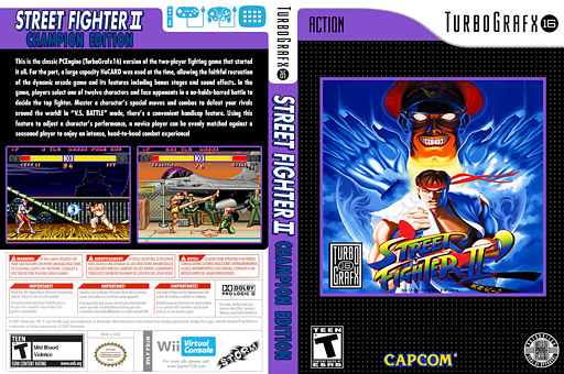 Street Fighter II: Champion Edition VC-PCE cover (PDJN)