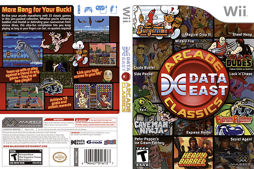 Data East Arcade Classics Wii cover (R26E5G)