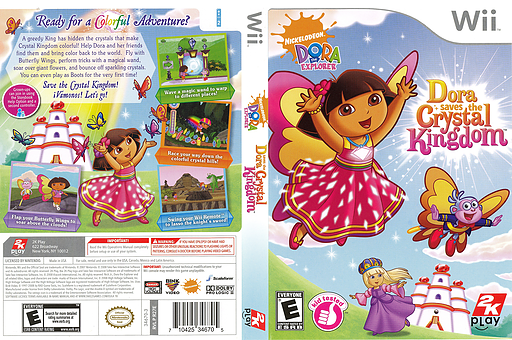 Dora Saves the Crystal Kingdom Wii cover (R27E54)