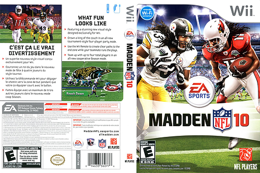 Madden NFL 10 Wii cover (R2IE69)
