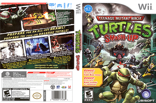 Teenage Mutant Ninja Turtles: Smash-Up Wii cover (R2TE41)