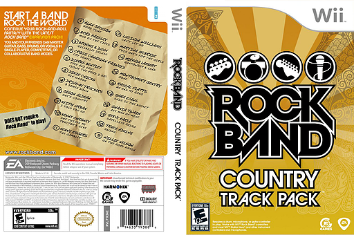 Rock Band: Country Track Pack Wii cover (R34E69)