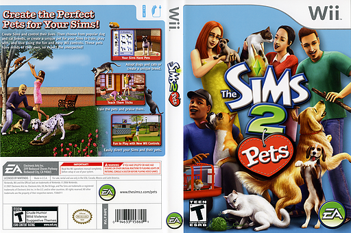 The Sims 2: Pets Wii cover (R4PE69)