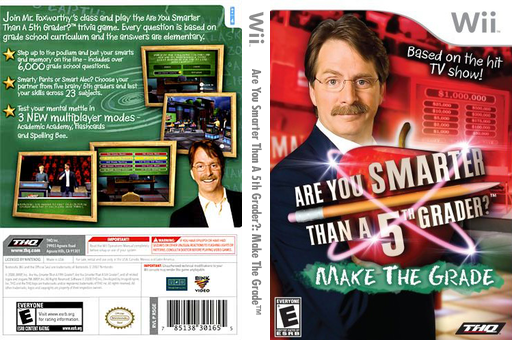 Are You Smarter Than A 5th Grader? Make the Grade Wii cover (R5GE78)