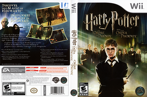 Harry Potter and the Order of the Phoenix Wii cover (R5PE69)