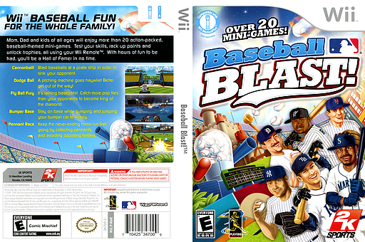 Baseball Blast! Wii cover (R6IE54)
