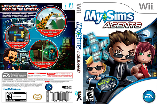 MySims Agents Wii cover (R6QE69)