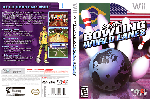 AMF Bowling World Lanes Wii cover (R6WE68)