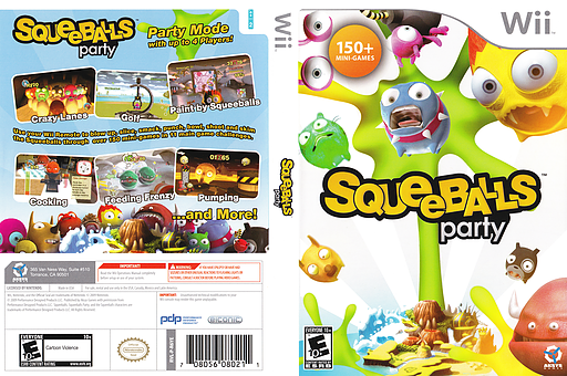Squeeballs Party Wii cover (R6YEXS)